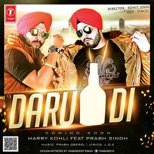 Daru Di Lyrics Harry Kohli Feat Prabh Oberoi