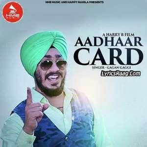 Aadhaar Card Lyrics Gagan Gaggi Ft Amar (Da Music Mirror)