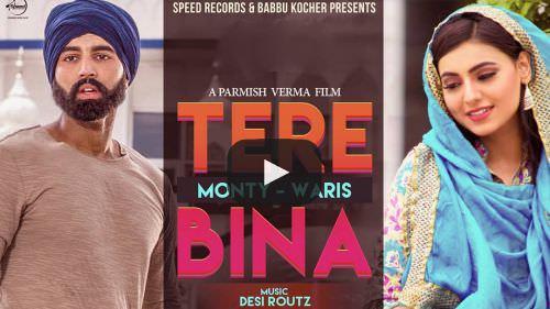 Tere Bina Lyrics - Monty & Waris Ft  Ginni Kapoor