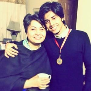 Danyal zafar with mother