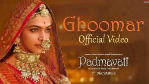Padmavati Ghoomar Song Deepika Padukone Shahid Kapoor