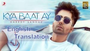 kya baat ay song lyrics english translation