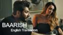 Baarish song lyrics english translation - Bilal Saeed