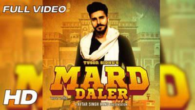 Mard Daler song lyrics Tyson Sidhu
