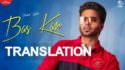 english meaning bas kar song translation lyrics