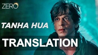tanha hua song lyrics meaning translation
