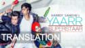 Yaar Superstar song translation Hardy Sandhu