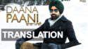 daana paani song lyrics translation tarsem jassar