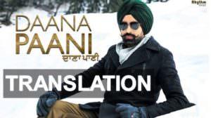 Tarsem Jassar – Daana Paani Title Song Lyrics Translation in English