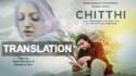 jubin Nautiyal o staahi chithi song translation