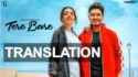 tere bare song translation poster