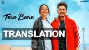 tere bare song translation poster