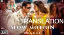 bharat slow motion lyrics translation