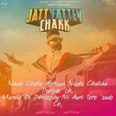Amrit Maan Jatt Fattey Chakk Lyrics