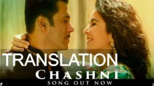 Chashni Song translation - Bharat