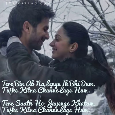 Kabir Singh Tujhe Kitna Chahne Lage hum hindi lyrics