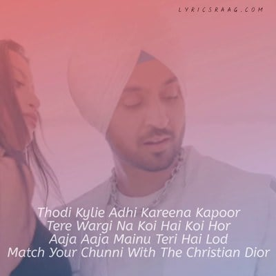 Kylie Kareena lyrics meaning Diljit Dosanjh