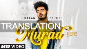 Murad Karan Sehmbi song lyrics meaning