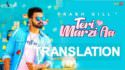 Prabh Gill song meaning Teri Marzi Aa