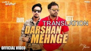darshan mehnge song translation