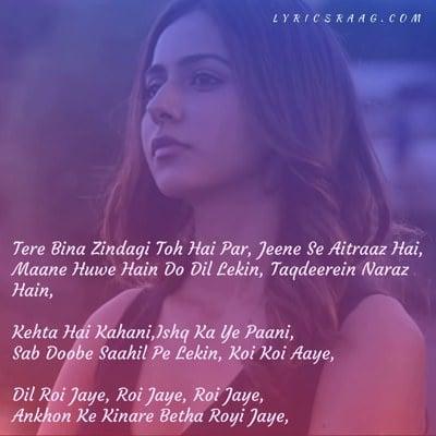 dil royi jaye song translation arijit meaning