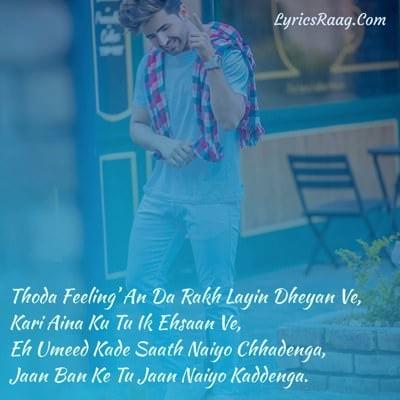 thoda feeling da rakh layi dhyan ve meaning nik
