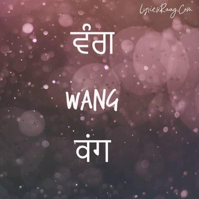 wang punjabi word meaning hindi english