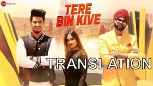 tere bin kive song translation poster ramji gulati