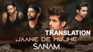 Jaane De Mujhe Lyrics [with Meaning] | Sanam (Band) | Translation