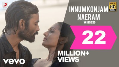 Maryan - Innum Konjam Naeram lyrics english A. R. Rahman Dhanush