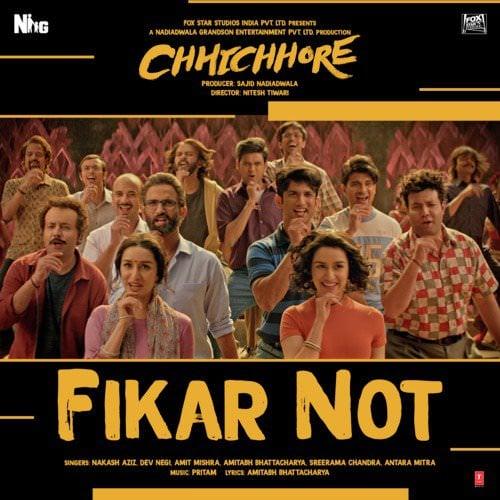 Fikar-Not-From-Chhichhore--Hindi-lyricsjpg