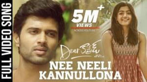 Nee Neeli Kannullona Lyrics Translation | Dear Comrade