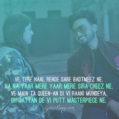 masterpiece punjabi song quotes lyrics gurlez jigar
