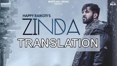zinda by happy raikoti lyrics translation