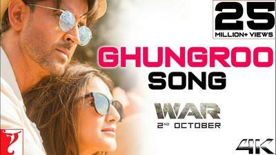 Ghungroo Song War Hrithik Roshan translation lyrics