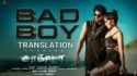 Saaho tamil Bad Boy Song lyrics translation