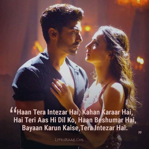 arijit singh tera intezaar hai lyrics hindi