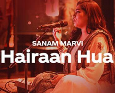 hairan hua lyrics meaning abida parveen sanam coke studio