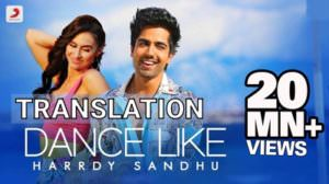Hardy Sandhu | Dance Like Song Lyrics Translation | Lauren Gottlieb