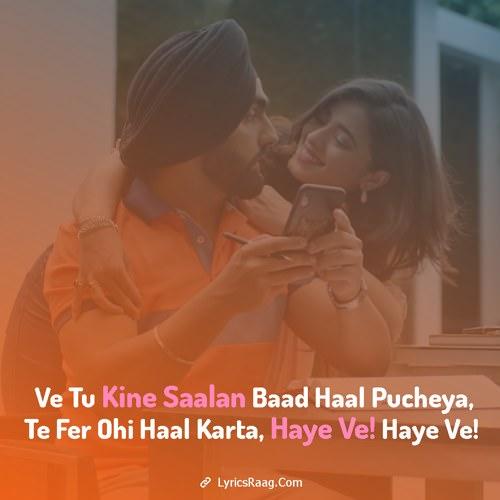 ammy virk haye ve song lyrics english haaye punjabi
