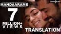 mandaarame song lyrics meaning in english