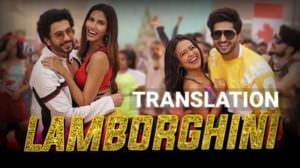 Lamborghini Lyrics Translation | Jai Mummy Di | by Neha Kakkar, Jassi Gill