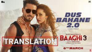 Dus Bahane 2.0 track Lyrics translation