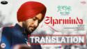 SHARMINDA Satinder Sartaaj lyrics tranlation