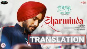 SHARMINDA Satinder Sartaaj lyrics tranlation