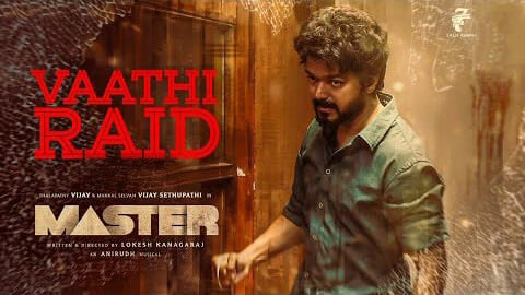 Master movie Vaathi Raid song Lyrics Thalapathy Vijay