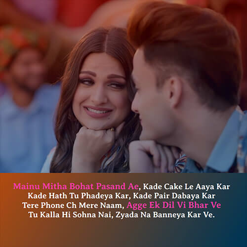 asim riaz himanshi khurana kalla sohna nai lyrics english