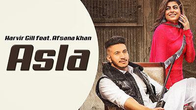 Asla Lyrics – Harvir Gill Ft. Afsana Khan