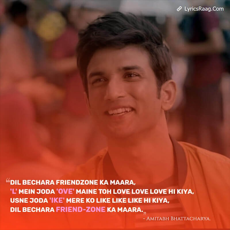 Sushant Singh Rajput dil bechara song lyrics translation English Rahman