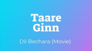 Taare Gin Dil Bechara lyrics English translation